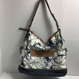 Fossil Vintage Collection canvas floral bag purse